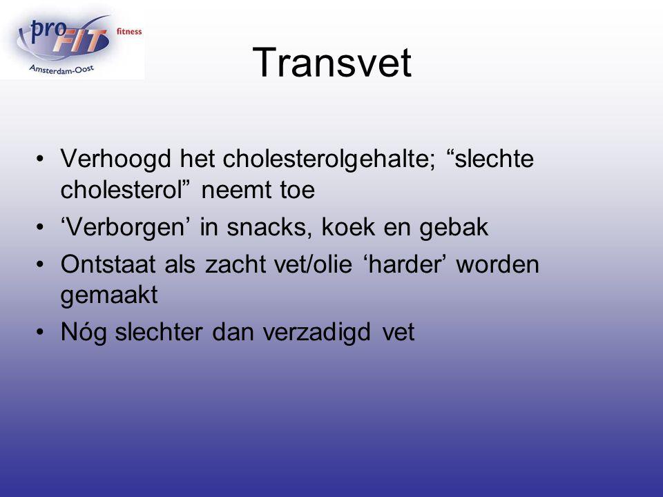 """Transvet Verhoogd het cholesterolgehalte; """"slechte cholesterol"""" neemt toe 'Verborgen' in snacks, koek en gebak Ontstaat als zacht vet/olie 'harder' wo"""