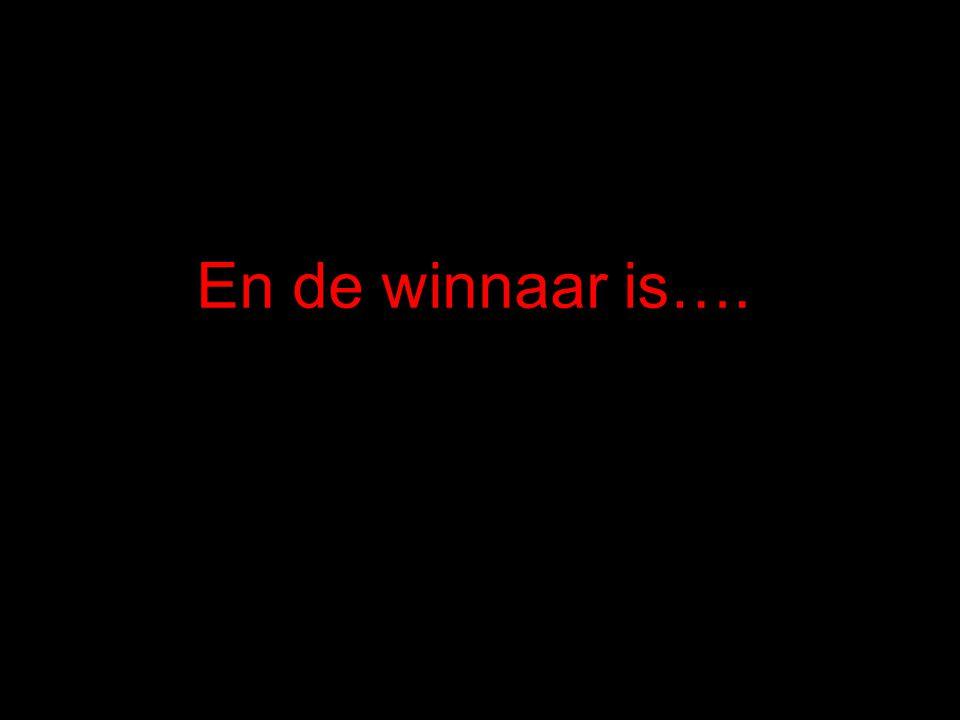 En de winnaar is….