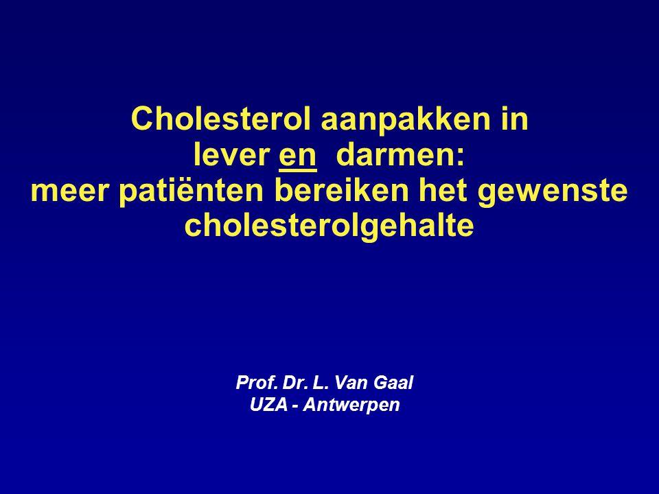 Cholesterol aanpakken in lever en darmen: meer patiënten bereiken het gewenste cholesterolgehalte Prof.