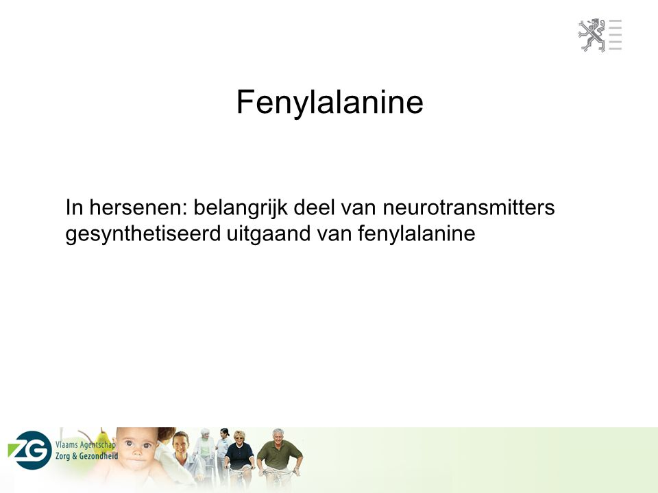 Fenylalanine In hersenen: belangrijk deel van neurotransmitters gesynthetiseerd uitgaand van fenylalanine