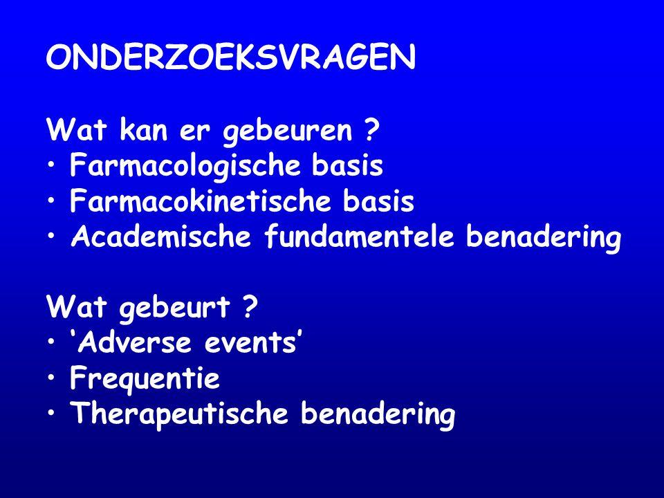 Interactie mogelijk ernstig (ECG) Situatie patiënt: - diabetes - nierfunctie Comedicatie: - andere diuretica - K-suppelementen Combinatie bij hartinsufficiëntie: + spironolacton: K-monitoring … frequente controle … = ?.