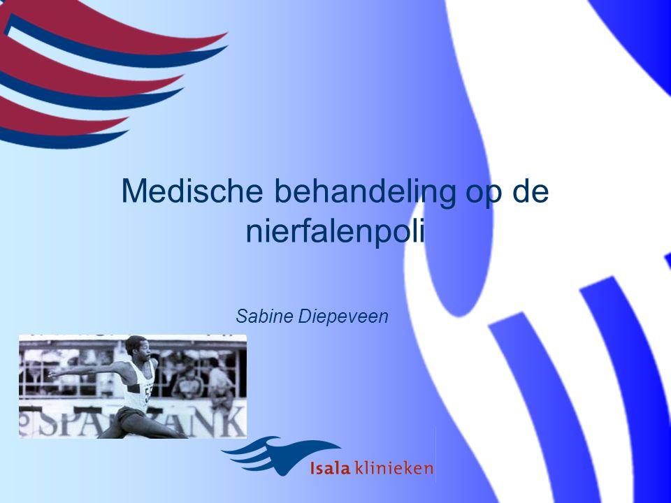 Medische behandeling op de nierfalenpoli Sabine Diepeveen