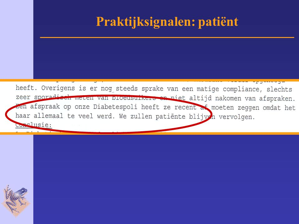 Praktijksignalen: patiënt