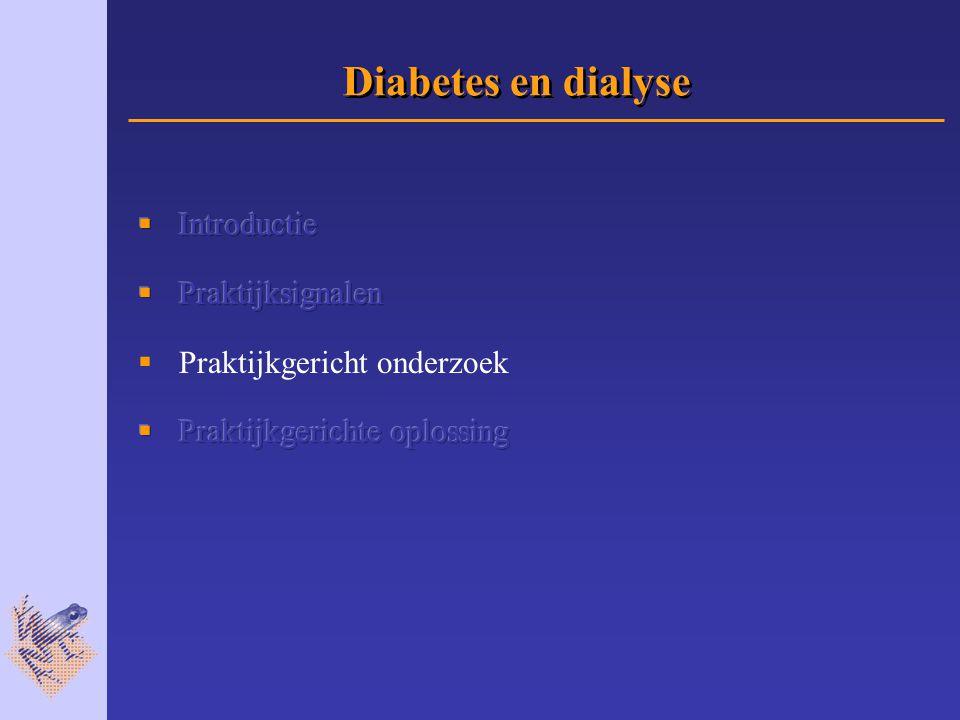 Diabetes en dialyse