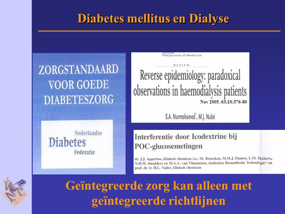 Diabetes mellitus en Dialyse Nov 2005.
