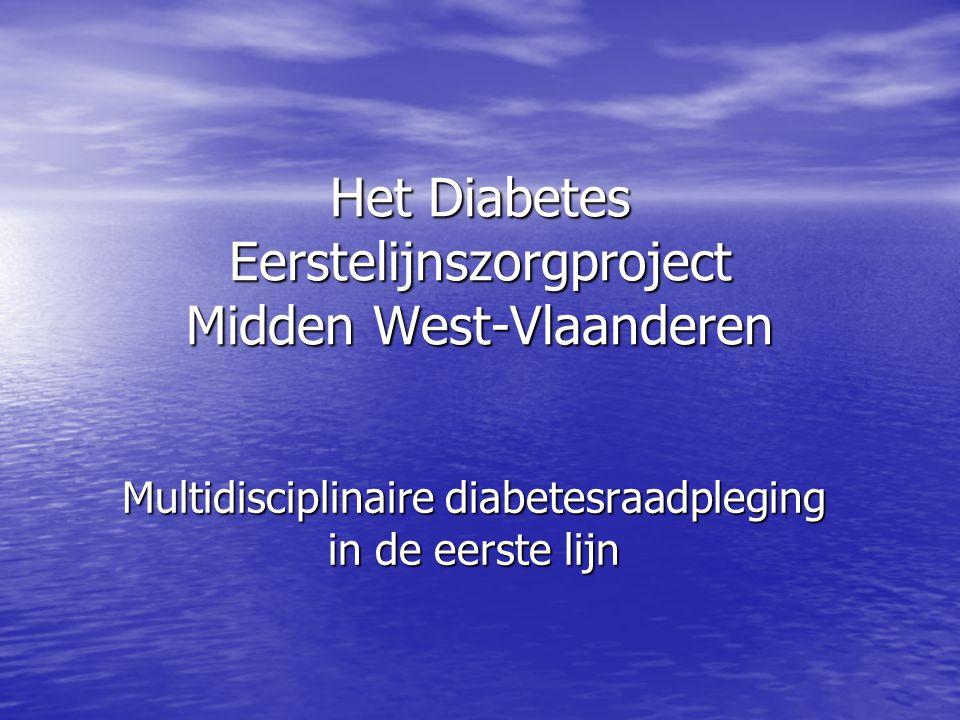 Het Diabetes Eerstelijnszorgproject Midden West-Vlaanderen Multidisciplinaire diabetesraadpleging in de eerste lijn