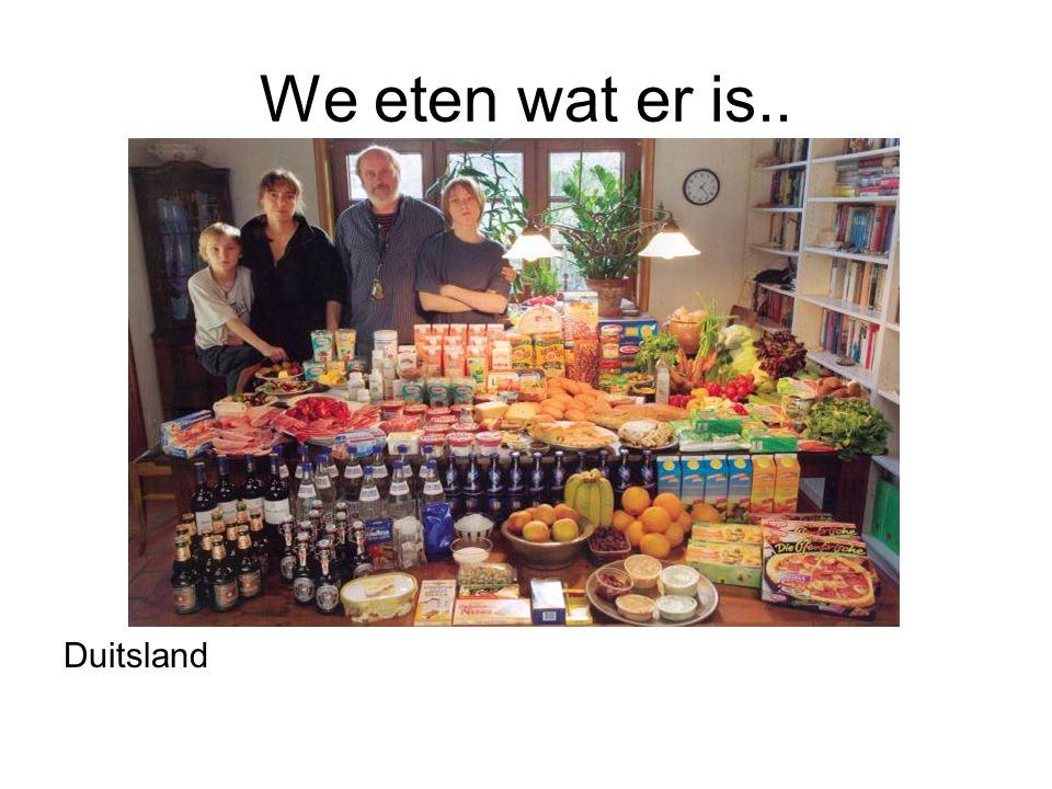 We eten wat er is