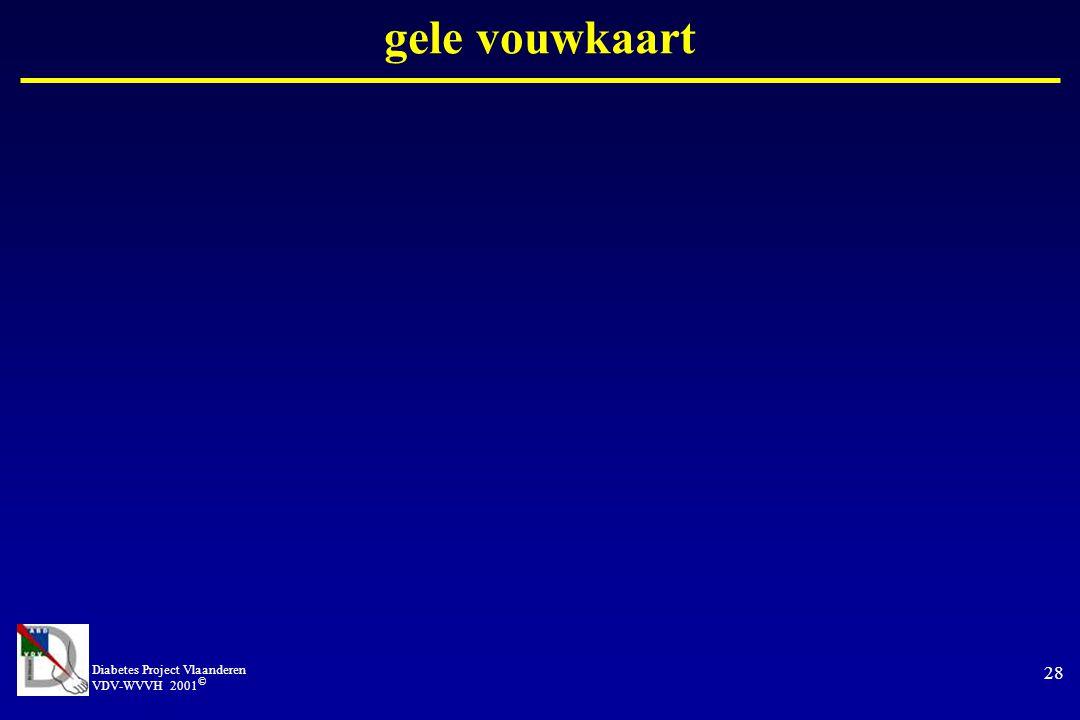 Diabetes Project Vlaanderen VDV-WVVH 2001 © 28 gele vouwkaart