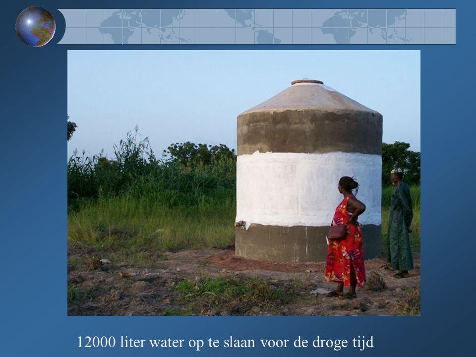 12000 liter water op te slaan voor de droge tijd
