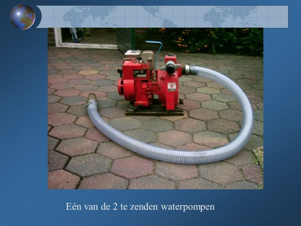 Eén van de 2 te zenden waterpompen