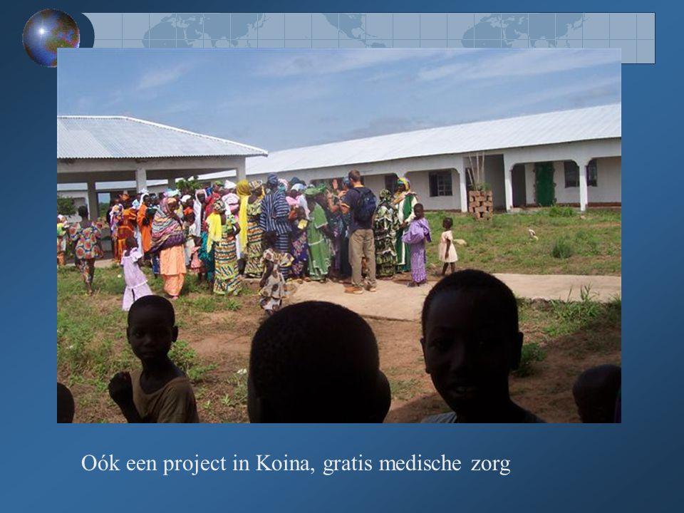 Oók een project in Koina, gratis medische zorg