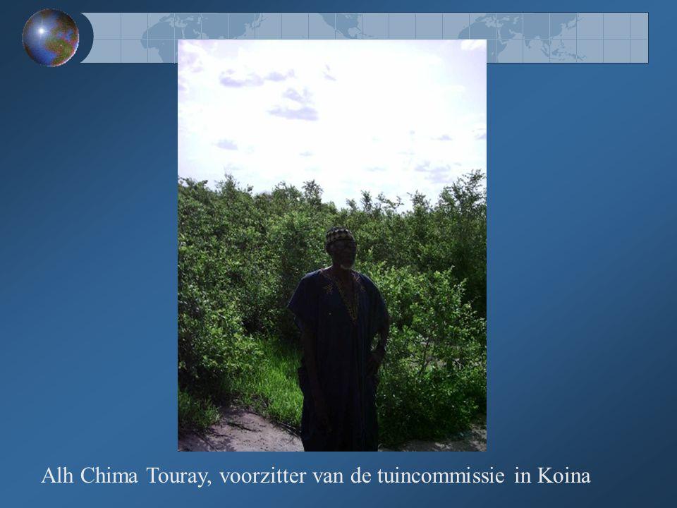Eén van de twee nieuwe waterputten in de dorpstuin van Koina