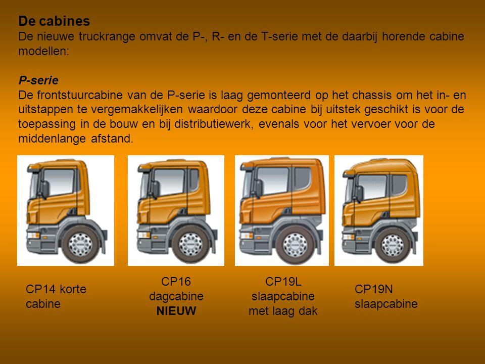 De cabines De nieuwe truckrange omvat de P-, R- en de T-serie met de daarbij horende cabine modellen: P-serie De frontstuurcabine van de P-serie is la