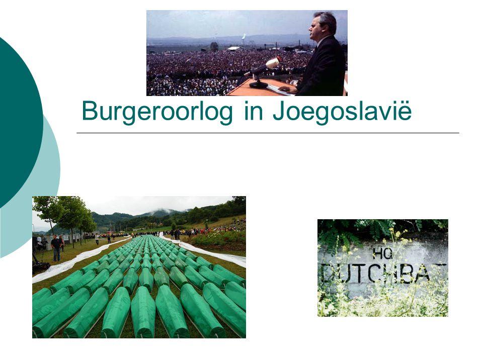Voorgeschiedenis  Joegoslavië had zichzelf bevrijd in de tweede wereldoorlog  Tito was leider van het verzet, wordt nu leider van het land  Communist, maar geen vriend van Rusland  Joegoslavië volgt eigen weg