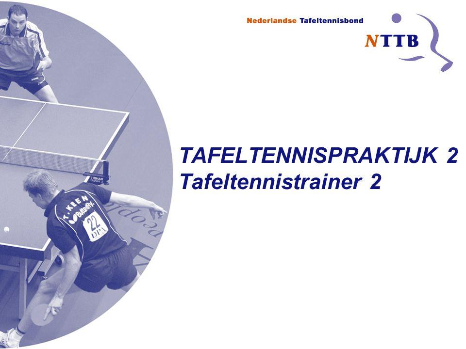 TAFELTENNISPRAKTIJK 2 Tafeltennistrainer 2