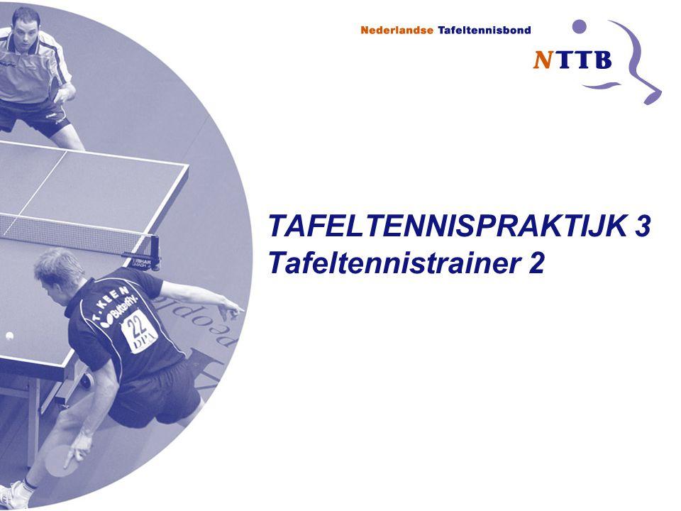 TAFELTENNISPRAKTIJK 3 Tafeltennistrainer 2