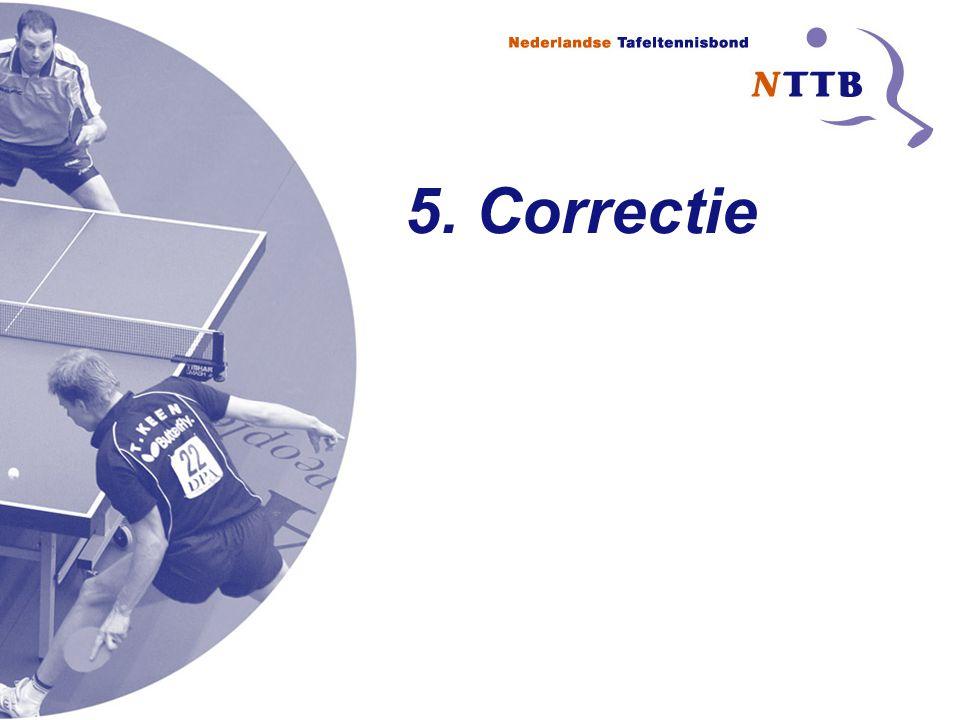 5. Correctie