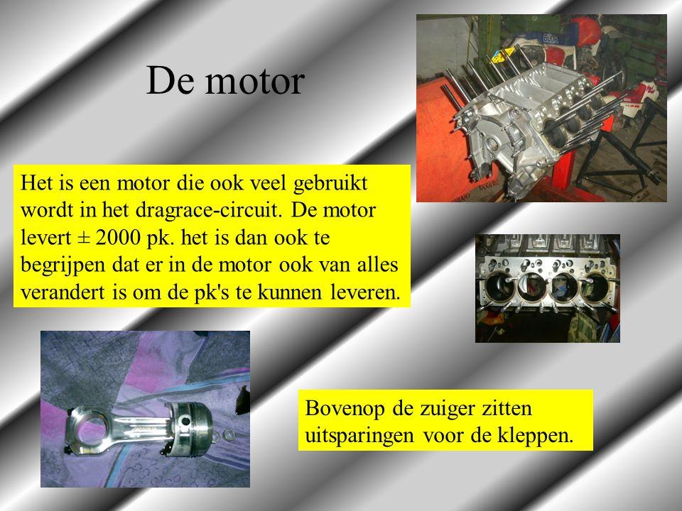 Het is een motor die ook veel gebruikt wordt in het dragrace-circuit. De motor levert ± 2000 pk. het is dan ook te begrijpen dat er in de motor ook va