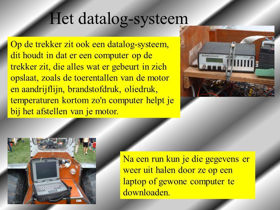 Op de trekker zit ook een datalog-systeem, dit houdt in dat er een computer op de trekker zit, die alles wat er gebeurt in zich opslaat, zoals de toer