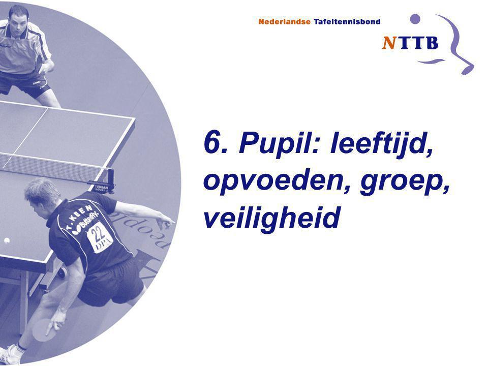 6. Pupil: leeftijd, opvoeden, groep, veiligheid
