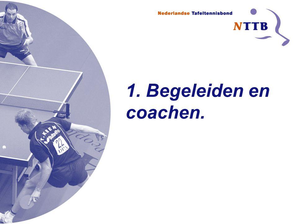 Opleidingen Begeleiden en coachen Coachen: -Heel afhankelijk van spelniveau -Beleid van de club -Wat zijn de regels.