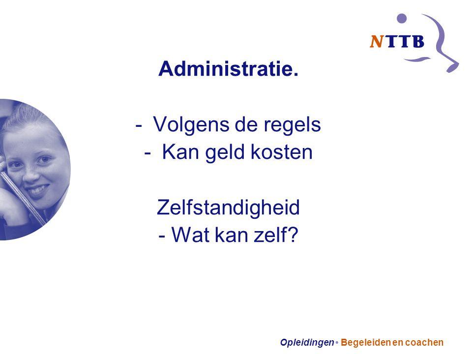Opleidingen Begeleiden en coachen Administratie.
