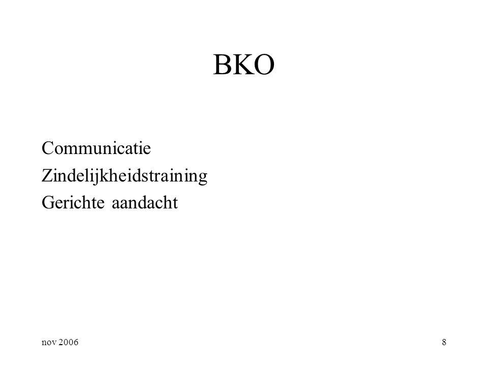 nov 20068 BKO Communicatie Zindelijkheidstraining Gerichte aandacht