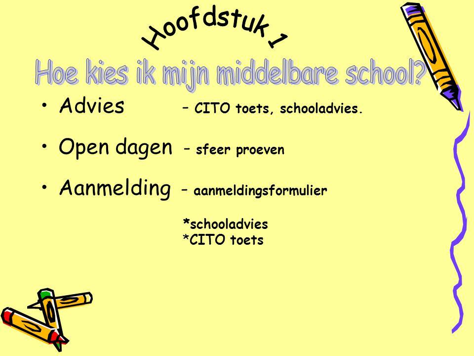 Advies - CITO toets, schooladvies.