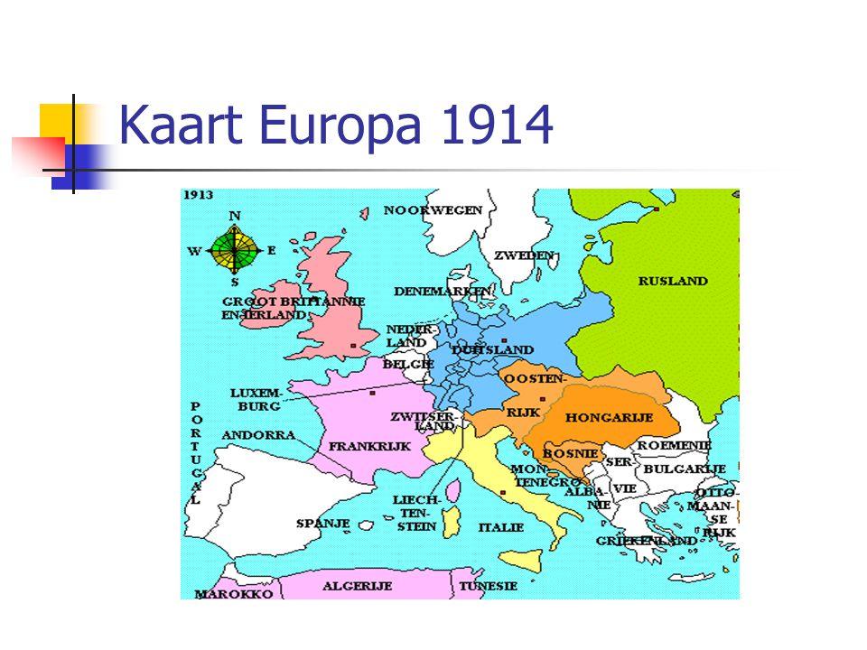 Kaart Europa 1914
