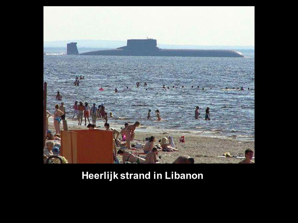 Heerlijk strand in Libanon