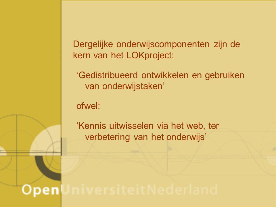 LOK Landelijk Onderwijsweb Kennistechnologie Aanleiding Uitgangspunten LOKweb Resultaten Succesfactoren voor kennisuitwisselings- systemen