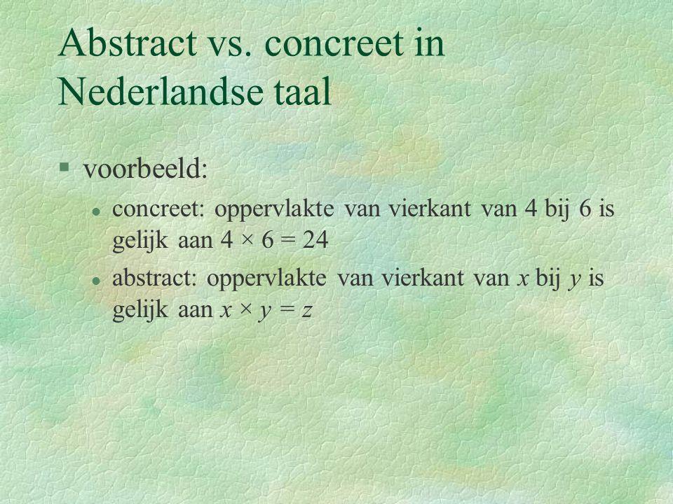 Abstractie vs.