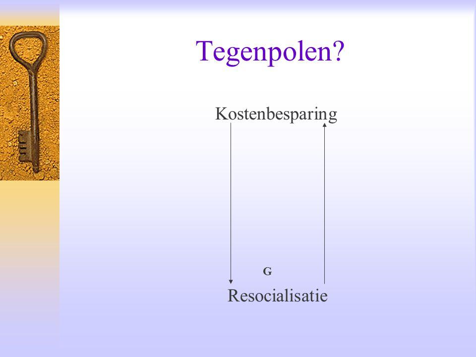 Tegenpolen? Kostenbesparing G Resocialisatie