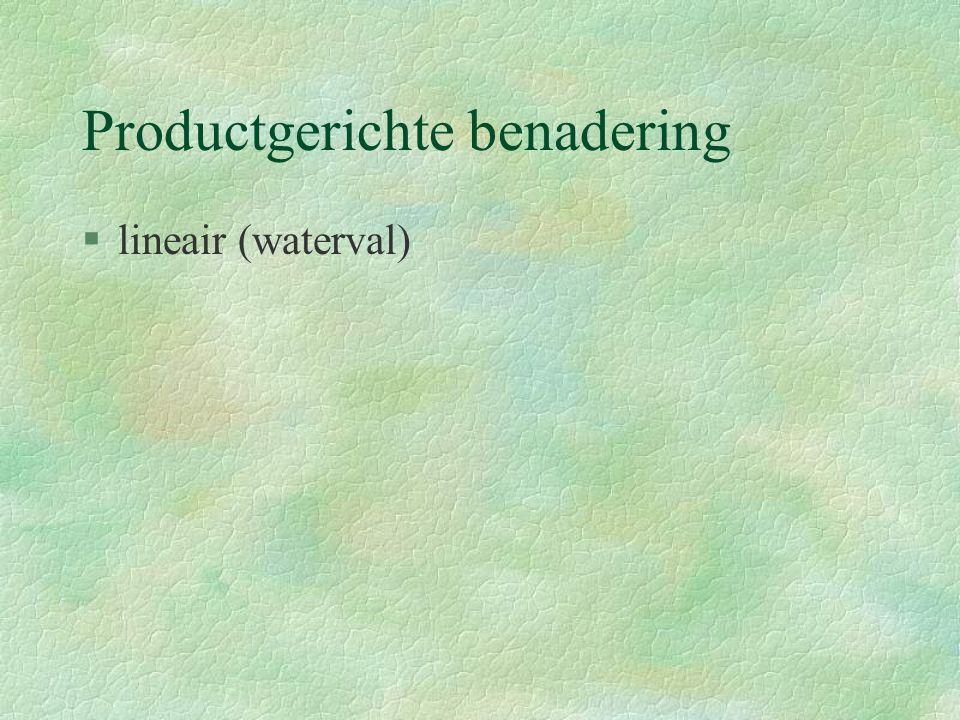 Productgerichte benadering §lineair (waterval)