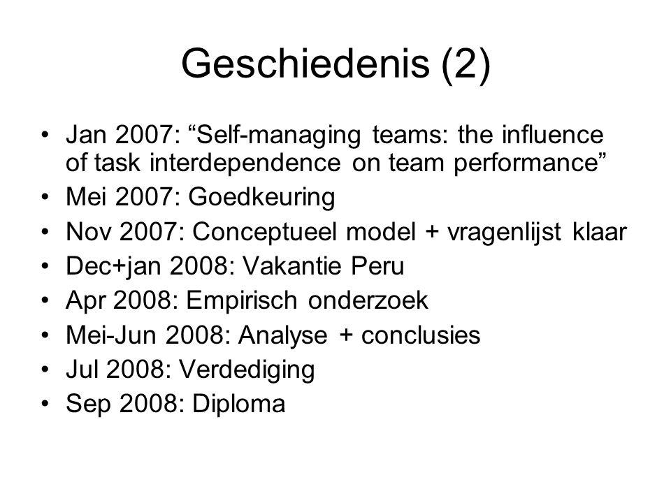 Mijn afstudeeropdracht Self-managing teams: the influence of task interdependence on team performance