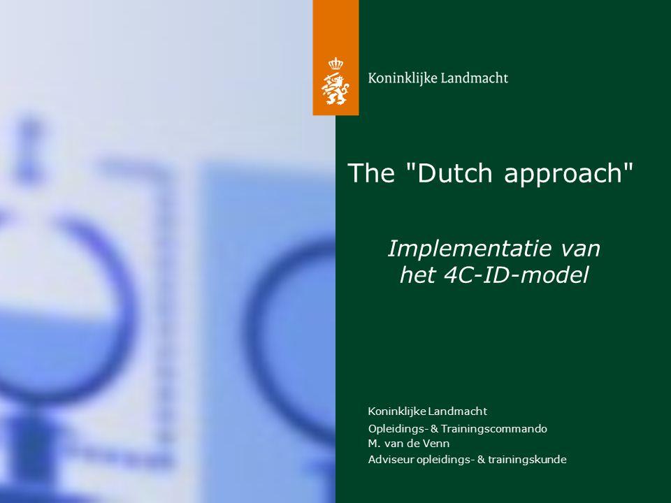 Koninklijke Landmacht 2 The Dutch aproach De rode draad 1.Beeldvorming van de KL 2.De gegeven opdracht 3.Mogelijke aanpak 4.Uiteindelijke aanpak 5.Conclusies