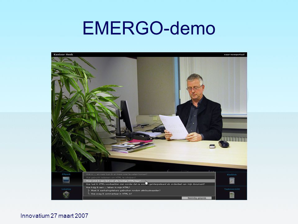 EMERGO-demo Innovatium 27 maart 2007