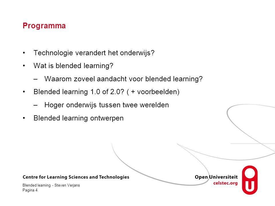 Blended learning - Steven Verjans Pagina 35 En nu heb ik genoeg verteld Vragen Discussie Hoe nu verder.