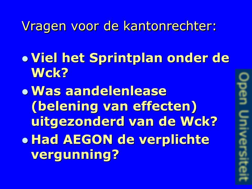 Rb Utrecht 17-08-05 en 08-03- 06 Eiseres / AEGON Bank (Spaarbeleg) Eiseres / AEGON Bank (Spaarbeleg) Sprintplan-overeenkomst Sprintplan-overeenkomst R