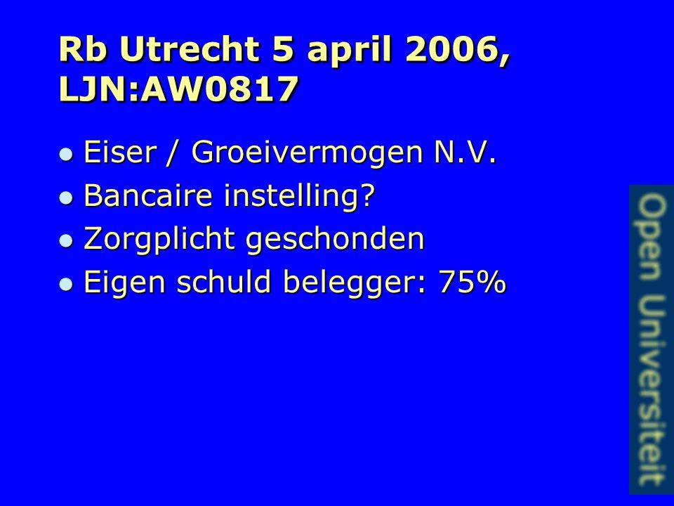 Rechtbanken Almelo en Arnhem In casu is het echter naar maatstaven van redelijkheid en billijkheid onaanvaardbaar dat de overeenkomst met terugwerkende kracht geheel ten nadele van Dexia teniet wordt gedaan.