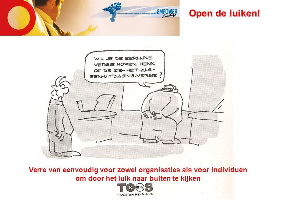 Open de luiken! Verre van eenvoudig voor zowel organisaties als voor individuen om door het luik naar buiten te kijken