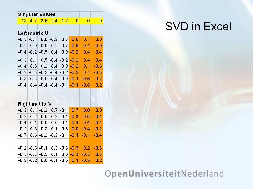 SVD in Excel