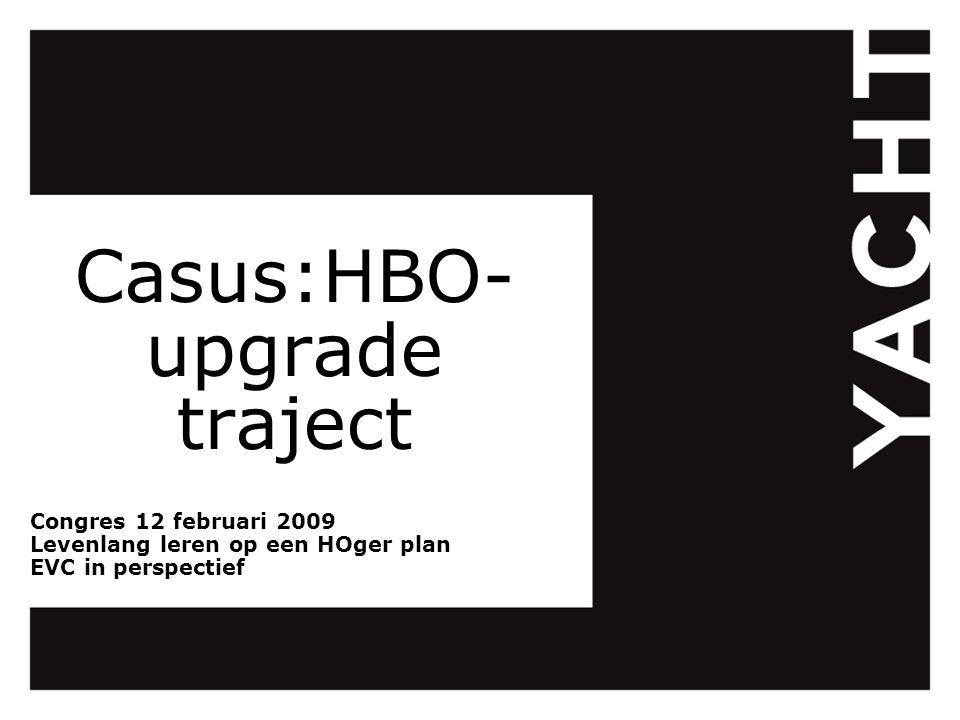 Casus:HBO- upgrade traject Congres 12 februari 2009 Levenlang leren op een HOger plan EVC in perspectief