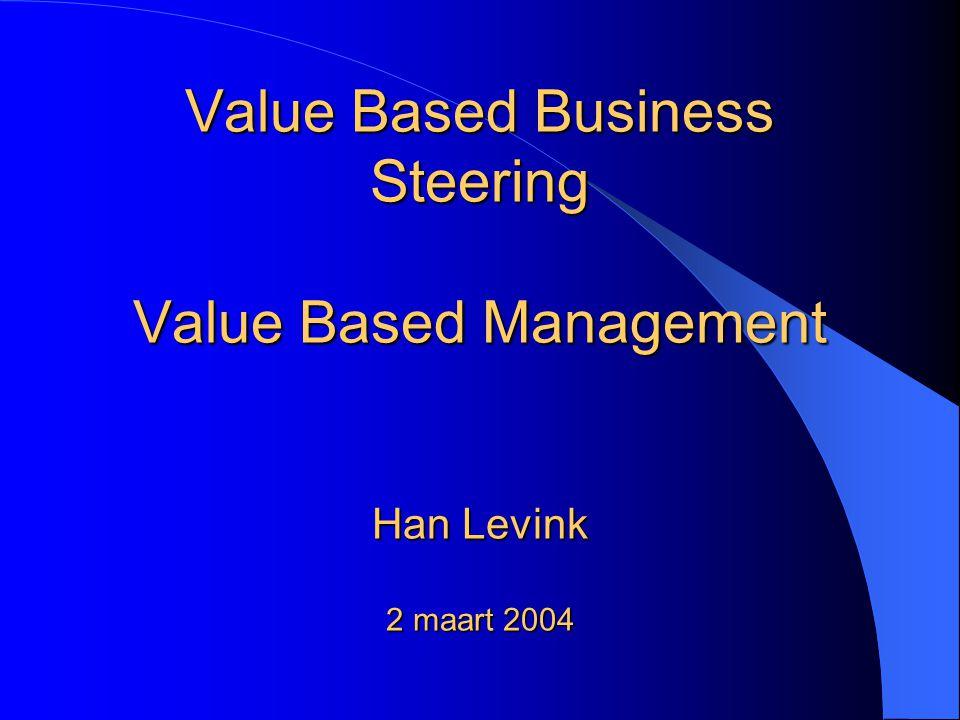 Opzet van presentatie VBBS Het theoretische kader van VBM Het VBBS-concept, zoals dat bij DSM gebruikt wordt Demonstratie van een VBBS-beheersingsmodel Bevindingen en discussie