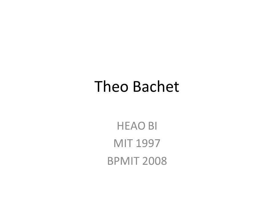 Theo Bachet HEAO BI MIT 1997 BPMIT 2008