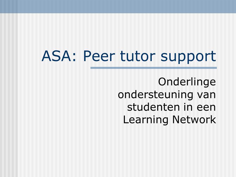 ATL: ASA Tutor Locator Tutor compentency: tutorkwaliteiten? Expertise? Rating?