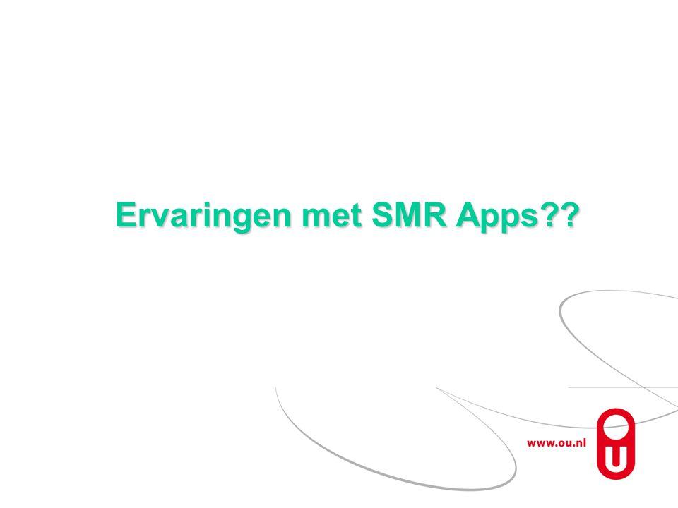 Ervaringen met SMR Apps??