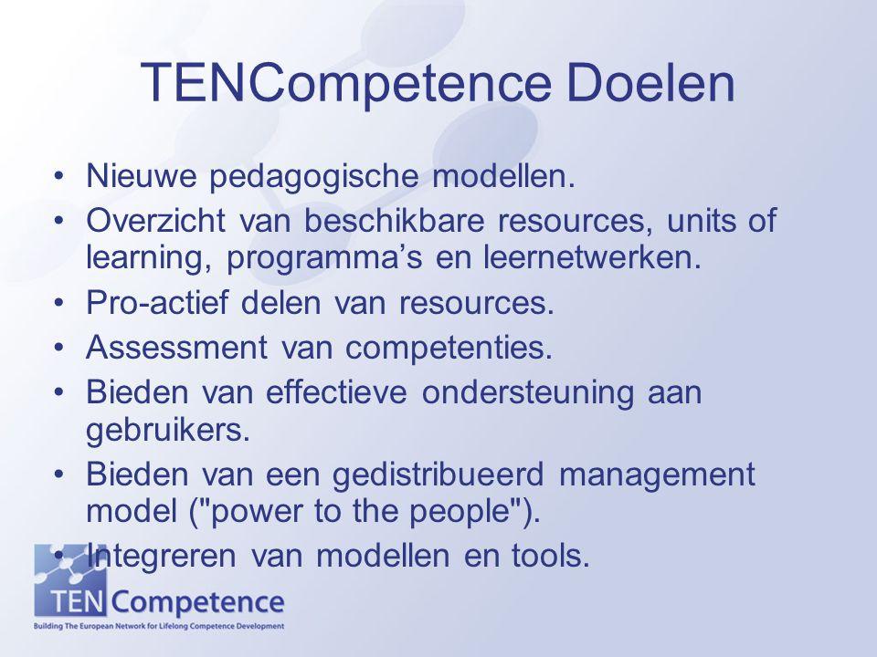 TENCompetence Doelen Nieuwe pedagogische modellen.