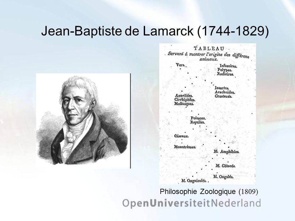 Jean-Baptiste de Lamarck (1744-1829) Philosophie Zoologique ( 1809)