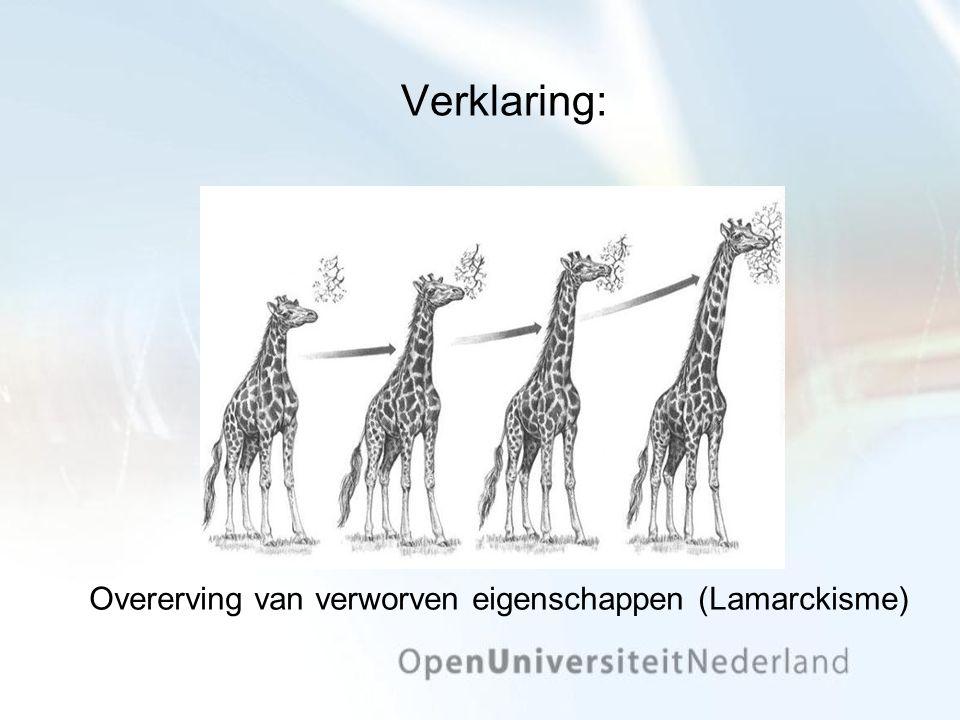 Verklaring: Overerving van verworven eigenschappen (Lamarckisme)